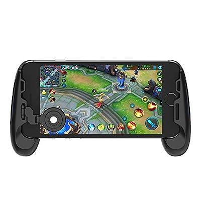 GameSir F1 Grip Game Controller Mobile Joystick Gamepad, Ergonomic Design Handle Holder Handgrip Stand for PUBG Fortnite Red Dead: Redemption, Support 5.5''-6.5'' Smartphone (Black) by GameSir