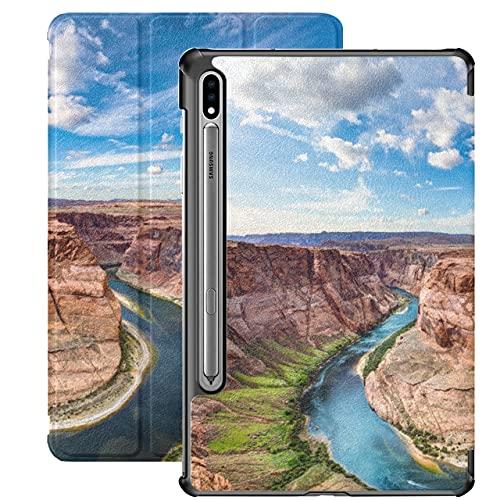 America The Grand Canyon Landscape Samsung Galaxy S7 Plus Funda para Tableta para Samsung Galaxy Tab S7 / s7 Plus Funda Samsung Soporte Funda Trasera para Tableta para Galaxy Tab S7 11 pulg