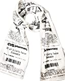 CVS Receipt Scarf, double-sided, soft fleece for any season. Looks just like a real CVS receipt. Makes a great gift!