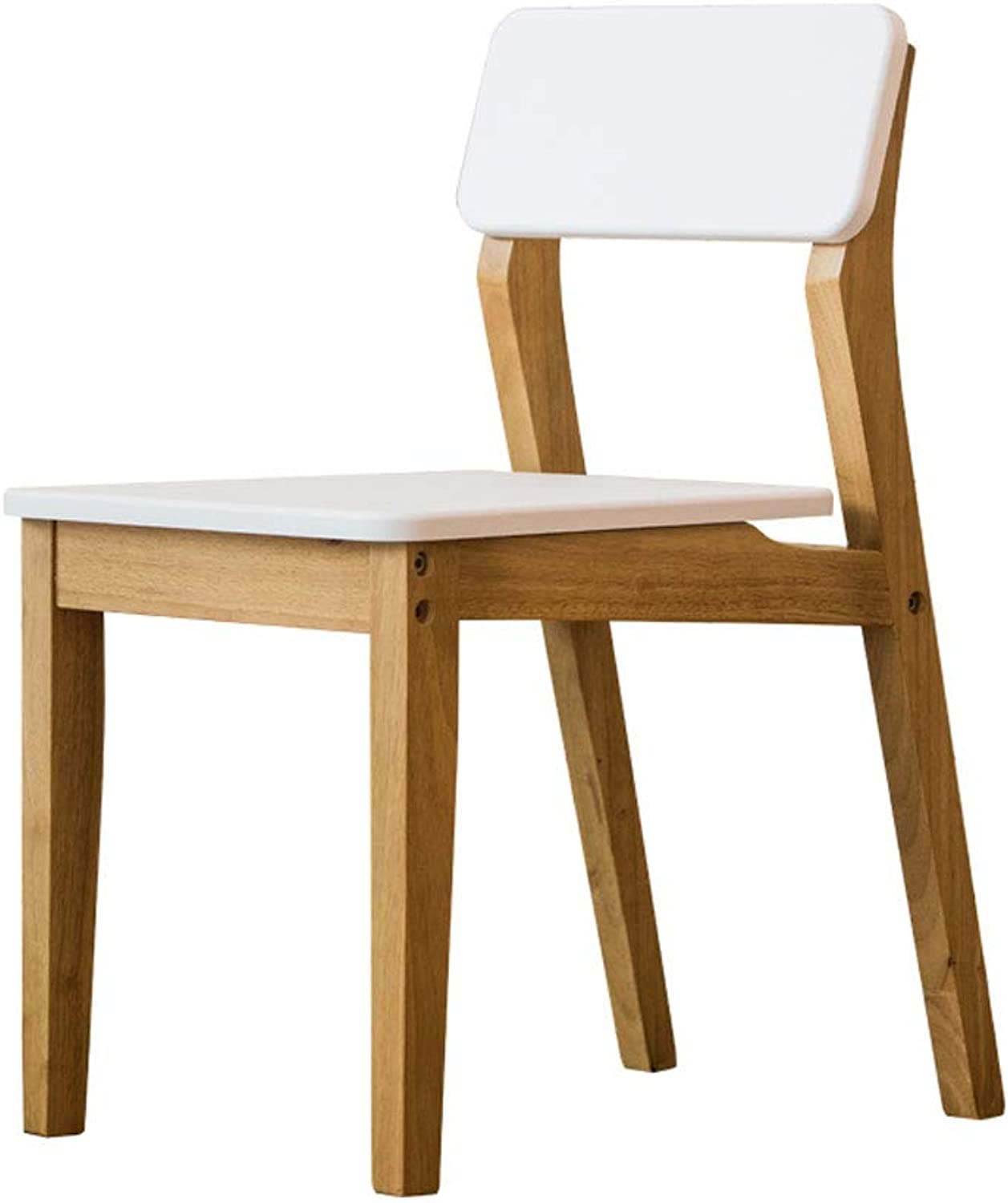 CHX Backrest Hotel Fabric Dining Chair Home Coffee Chair Solid Wood C (Size   L41CMXW56CMXH75CM)