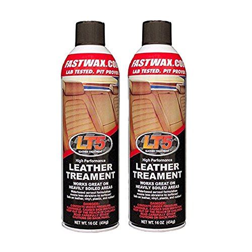 Fast Wax LT5 High Performance Leather Treatment Cleaner and Conditioner by FW1 (2 Pack)