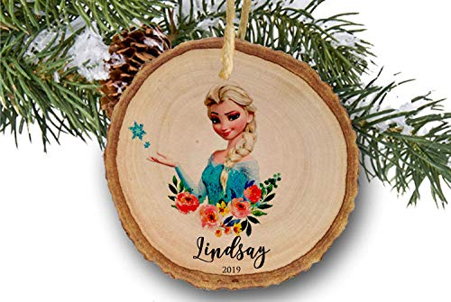 Lplpol Elsa Ornament, Frozen Ornament,Elsa, Princess Ornament, Disney Ornament, Disney Christmas Ornament,Personalized Disney Ornament, Girl Gift
