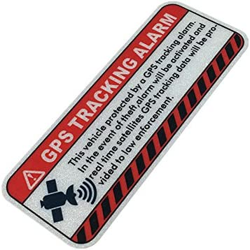 Warning GPS Tracking Car Stickers Anti Theft Alarm Motorcycle Bike Helmet Vinyl Decals 5x2cm product image
