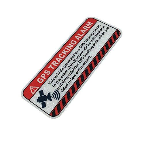 Warning GPS Tracking Car Stickers Anti-Theft Alarm Motorcycle Bike Helmet Vinyl Decals (5x2cm 2PCS)