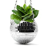Illumina Disco Ball Planter Pot with Self-Watering System | Disco Ball Hanging Planter | Groovy Disco Planter Pot Hanging Disco Ball Planter | Self Watering Hanging Planter (6 Inches)