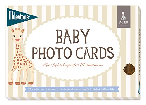 Milestone Baby Cards - Sophie la girafe Baby photo cards - deutsche Version 24 Fotokarten