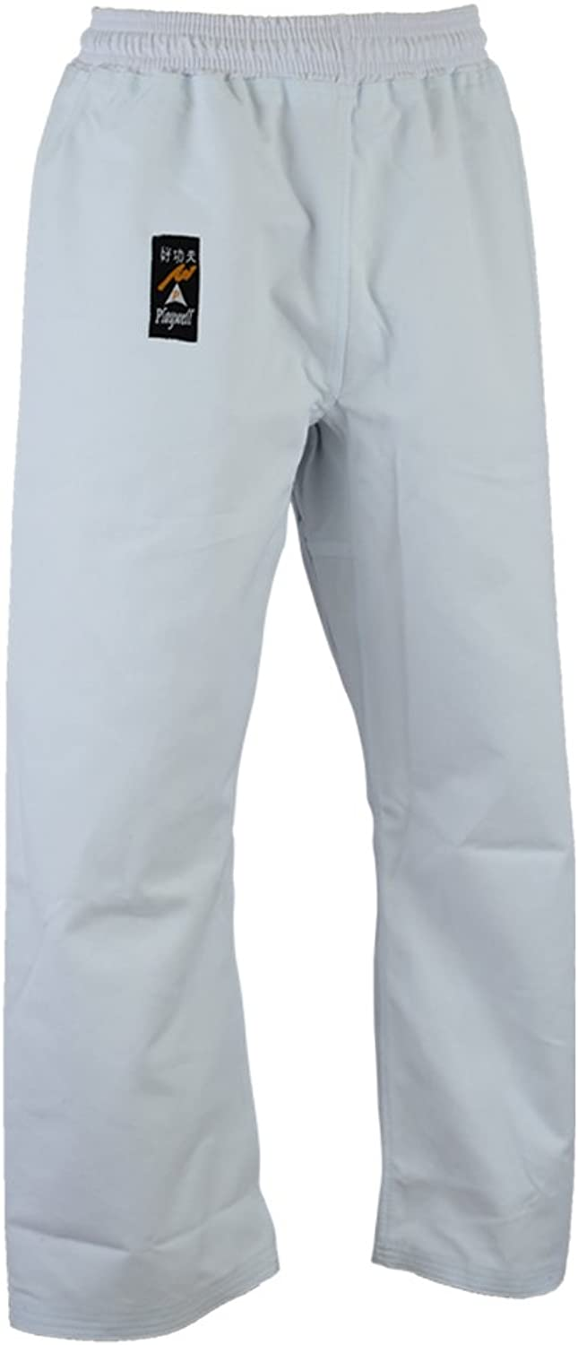 Karate Heavy Weight Canvas Trousers White 14oz  Elasticated Waist