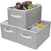 3-Pack GRANNY SAYS Kid's Fabric Storage Bin Toy Basket