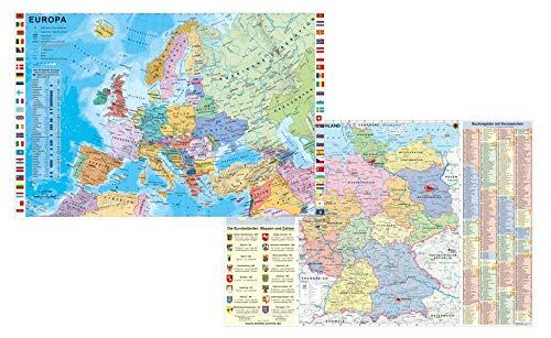Preisvergleich Produktbild Deutschland und Europa fürs Büro - DUO-Schreibunterlage