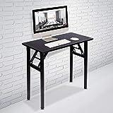 DlandHome Mesa plegable pequeña de 80 x 40 cm, no necesita instalación, escritorio de la...