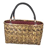 Handbag For Woman Weave Bag Tote Handwoven Bamboo Rattan Handmade Gifts Shopping Bags Crafts Storage Basket,Handbag-3012.516cm