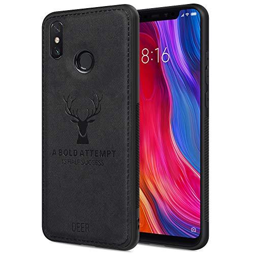 "Funda Xiaomi Mi 8, Carcasa Movil Xiaomi Mi 8 Funda Blanda a Prueba de Golpes Funda de TPU Carcasa para Teléfono Inteligente Xiaomi Mi 8, 6.21"" Negro"