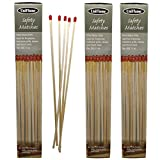 Extra Heavy Duty Long Safety Matches   Long Wooden Fireplace Matches for Candles, Camping, BBQ Grilling   M-6150  11' Long   50 per Box   Pack of 3 x 50 (150 Matches)