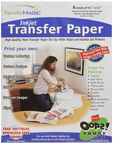 Transfer Magic FXINK-6 8-1/2-Inch by 11-Inch Ink Jet Transfer Paper, 6-Pack