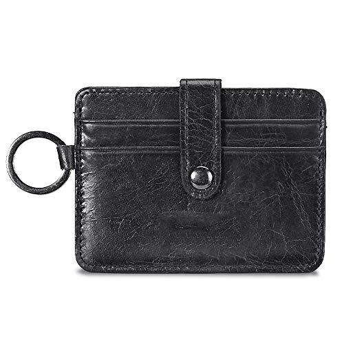 ZQY Lederen portemonnee voor heren Credit Card Houder RFID Slim Lederen portemonnee Multi-Card Korte Portemonnee Munttas
