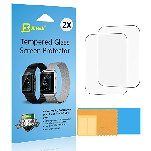 JETech SchutzfolieKompatibel mit Apple Watch 42mm, Gehärtetem Glas Bildschirmschutzfolie, 2 Stück