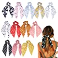Hair Scrunchies Satin Silk Elastic Hair Bands Hair Scarf Ponytail Holder Scrunchy Ties Vintage Accessories for Women Girls