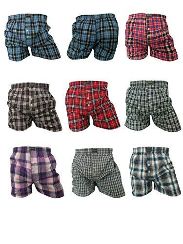 Herren Boxershorts | Männer American Style Webboxer 6er Pack XXL/Mehrfarbig