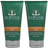 Clubman Pinaud Head Shave Gel Barber Tools 6 oz 2 x BB-28000