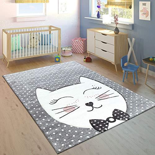 Dimension:80x150 cm Paco Home Tapis pour Enfant Poils Ras Jungle Animaux Vert