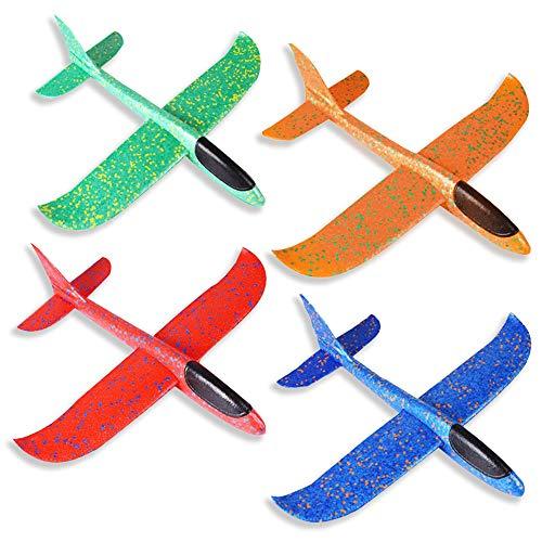 ZoneYan Segelflugzeug, Kinder Styroporflieger, Flugzeuge Styropor, Manuelles Werfen Flugzeug, Werfen Fliegen Modell, Outdoor-Sports Flugzeug Spielzeug