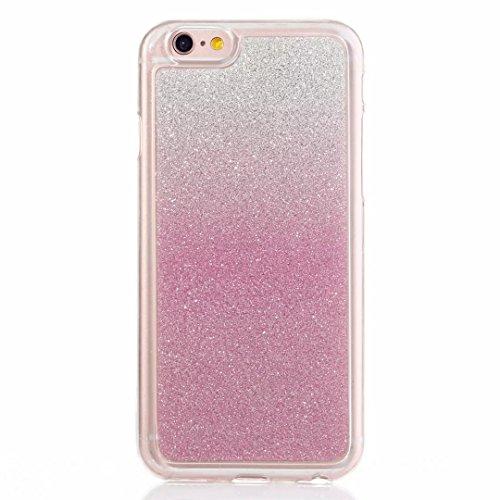MUTOUREN iPhone 5C Caso,iPhone 5C Funda de movil Silicona Funda la Caja del teléfono TPU Resistencia a la caída de Silicona Concha,Calidad Alta Moda Sencillo Cambio Gradual Matorral - Rosa Caja