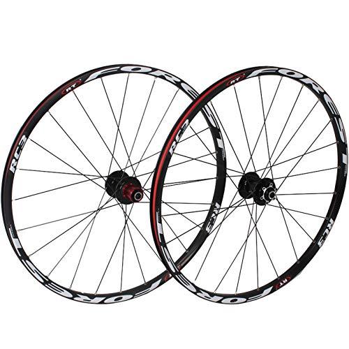 Ruedas Ciclismo,26 Pulgadas Aleación de Aluminio Llanta de Doble Piso Admite Velocidad de 7/8/9/10/11 Apto para Bicicletas MTB Juego Ruedas Bicicleta B,26 Inch