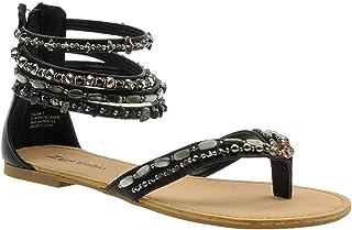 7dc89e013ad Zigi Soho Womens Talisa Split Toe Casual Ankle Strap Sandals