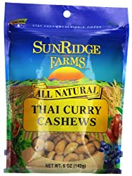 Sunridge Farms Cashews, Thai Curry, 5 Ounce (Pack of 12), $55 @amazon.com