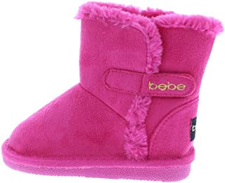 Toddler Girls Microsuede Snow Boots with Faux Fur Cuffs...