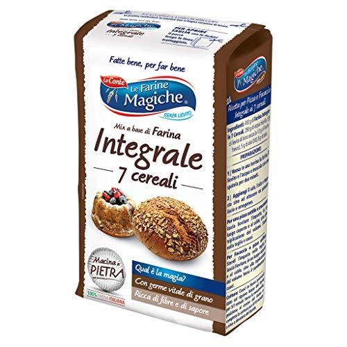 Le Farine Magiche Farina Integrale ai 7 Cereali, altamente digeribile, gusto rustico e tipico di un tempo, Confezione da 900 g