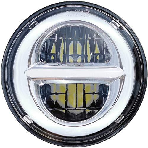 5-3/4 5.75 \'\' LED Scheinwerfer für Harley Davidson Motorrad, LED-Projektor-Fahrlicht mit DRL (Silber)
