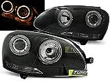 Paire de feux phares V- Golf 5 03-09 angel eyes noir