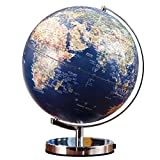N&I Globo mundial iluminado para niños, metal HD, Earth Globes de escritorio con rotación de 360 grados, decoración para el hogar