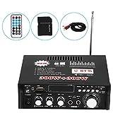 Fydun Amplificatore stereo per auto amplificatore di potenza stereo HiFi Bluetooth AMP per telecomando audio digitale 12V