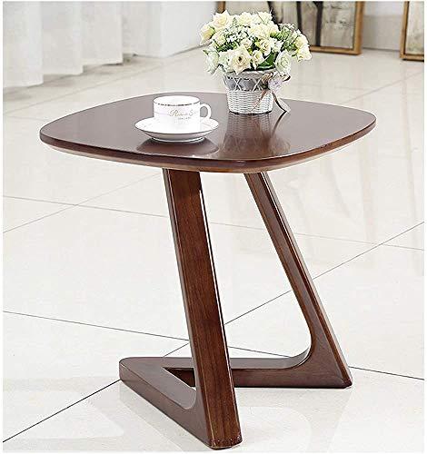 Tabla de café pequeña, mesa de madera de nuez, mesa de noche de sofá cama, mesa de aperitivos, soporte de pantalla de mesa de ordenador portátil, soporte de pequeña flor,B