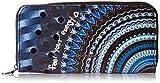 Desigual Long Wallet Rep Frien, Billetera para Mujer, Azul (Blue Indigo), 2x9.5x19 cm (B x H x T)