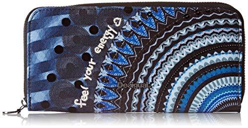 Desigual Damen Long Wallet Rep Frien Geldbörse, Blau (Blue Indigo), 2x9.5x19 cm