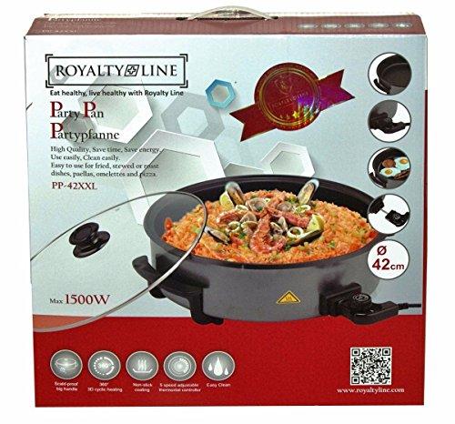 EUROSEDICO Paellera eléctrica, Pizza pan, 42 cm, 1500 W