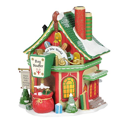 Department 56 North Pole Series St. Nick's Gift Sorting Center Lighted Buildings, 6.77-inch Height … 56 North Pole Series