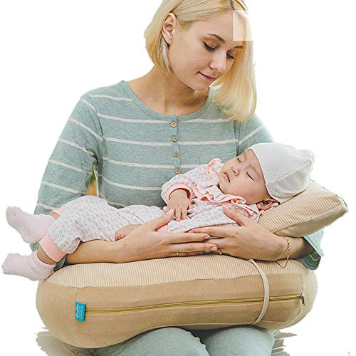 GOUO@ Coussin d'allaitement Coussin d'allaitement Taille Bébé Oreiller Anti-crachage Lait Pad Confinement Chair Coussin d'allaitement