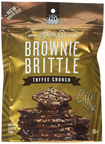 Sheila G's Brownie Brittle, Toffee Crunch, 2.75 Ounce Bag (Pack of 8) (Packaging May Vary)
