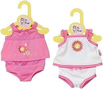 Dolly Moda Underwear 38-46cm Ropa interior de muñeca - accesorios para muñecas (Ropa interior de muñeca, 3 año(s), Rosa, Color blanco, Chica, 2 pieza(s), 38 cm) , color/modelo surtido