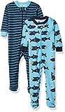 Gerber Baby Boys' 2-Pack Footed Pajamas, Sharks, 12...