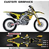 Kungfu Graphics Custom Decal Kit for Suzuki RMZ 450 2008 2009 2010 2011 2012 2013 2014 2015 2016 2017, Yellow Black,SZR40817002