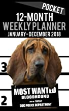 2018 Pocket Weekly Planner - Most Wanted Bloodhound: Daily Diary Monthly Yearly Calendar 5