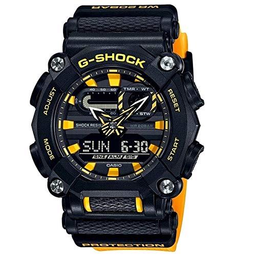 Casio G-Shock Herrenuhr Schwarz/Gelb GA-900A-1A9ER