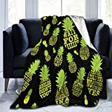★ Material: Our Psych Pineapple Quotes Blanket Is Made Of 100% High-Quality Anti-Pilling Flannel, Just Like Stroking Clouds Floating In The Sky, Bringing You The Most Skin-Friendly Experience And The Softest Comfort ★★ Size: 3 Sizes Of Psych Pineappl...