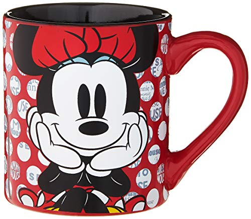 Silver Buffalo MD0132 Disney Minnie Mouse Rock the Dots Keramikbecher, 400 ml, mehrfarbig
