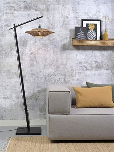 Bali Good&Mojo - Lámpara de pie (60 x 15 cm, bambú)